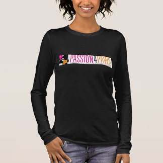 Long-Sleeved Black Woman's Logo T-Shirt