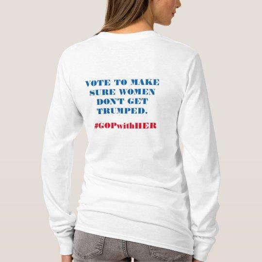 Long Sleeved T-Shirt Republican Women for Hillary