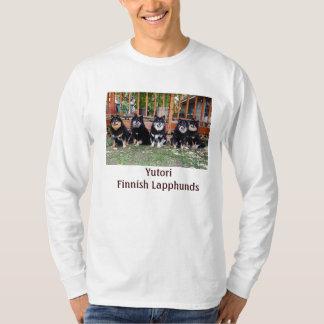 Long sleeved T-shirt with 5 black/tan Yutori dogs.
