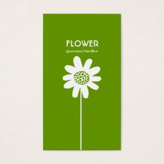 Long Stem Flower VI - Avocado Green Business Card