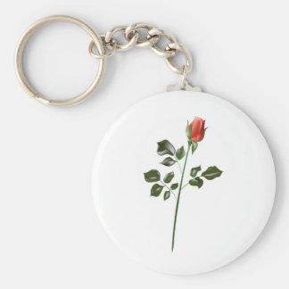 Long stem Red Rose Keychain
