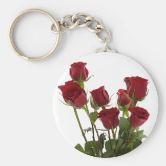 Long Stem Red Roses Keychain