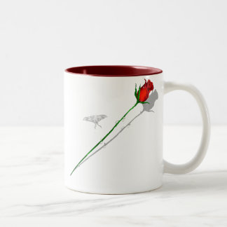 Long Stem Rose and Butterfly  Mug