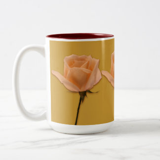 Long Stem Rose Two-Tone Coffee Mug