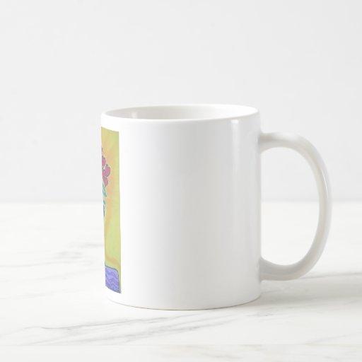 Long-stemmed Hearts in Blue Vase Coffee Mugs