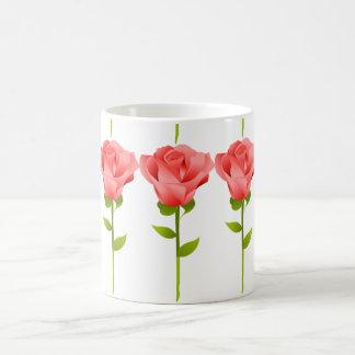 Long Stemmed Pink Roses Basic White Mug