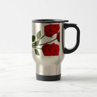 Long Stemmed Roses 15 Oz Stainless Steel Travel Mug