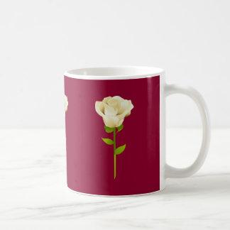 Long Stemmed white Roses Basic White Mug