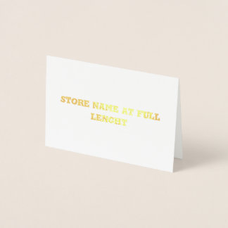 long store name 2 foil card