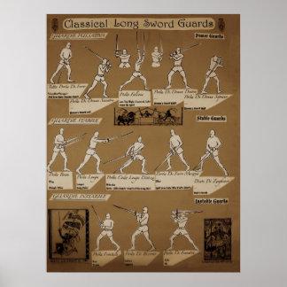 Long Sword Guard Poster Sepia