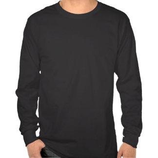 Long T-shirt de douille de noir androïde d'iDo