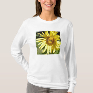 Long T-shirt de douilles de tournesol/abeille