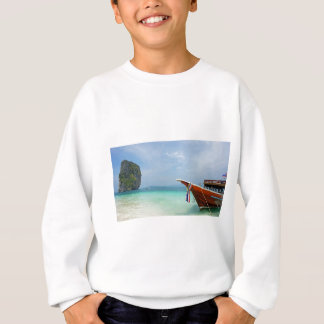 long tail boat in thailand sweatshirt