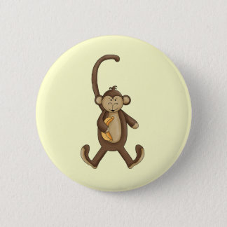 Long Tailed Monkey 2 Inch Round Button