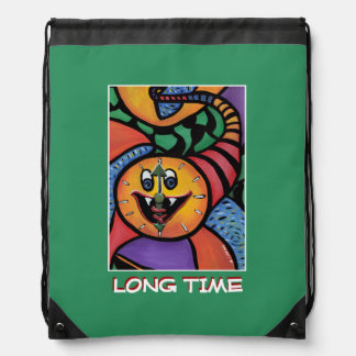 Long Time - Green -Time  Pieces Drawstring Bag