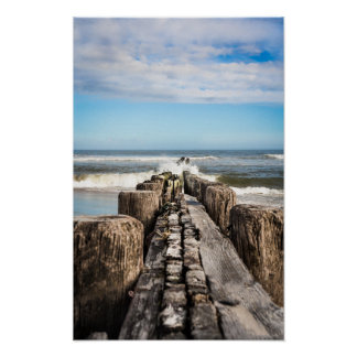 Long View Down the Jetty Poster