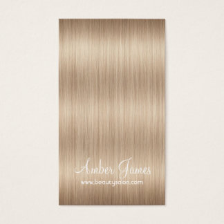 Long Wavy Blonde Hair 5 Stylist Business Cards