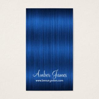 Long Wavy Blue Hair 3 Stylist Salon Business Cards