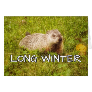 Long winter greeting card