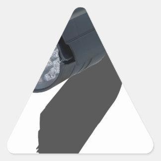 LongBlackSecurityCamera012915.png Triangle Sticker