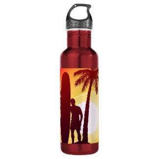 Longboard and palms 710 ml water bottle
