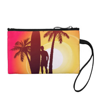 Longboard and palms coin purse