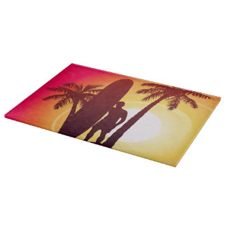 Longboard and palms cutting board
