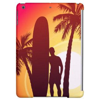 Longboard and palms iPad air case