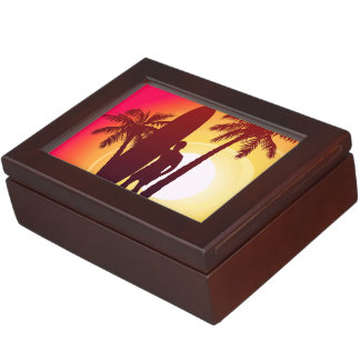 Longboard and palms keepsake box