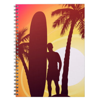 Longboard and palms notebook