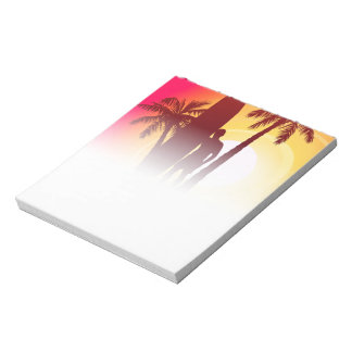 Longboard and palms notepad