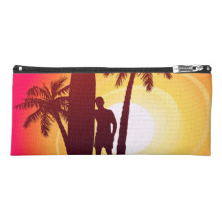 Longboard and palms pencil case