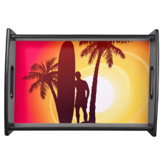 Longboard and palms serving tray