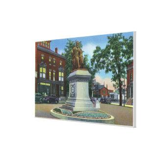 Longfellow Square View of the Longfellow Canvas Print