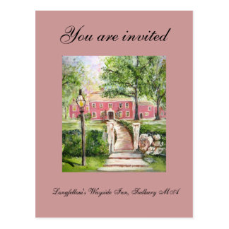 Longfellow's Wayside Inn - Invitation Postcard
