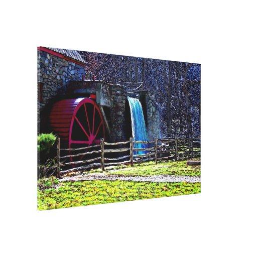 Longfellow's Wayside Mill in Sudbury Massachusetts Canvas Print