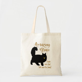 Longhair Rescue Cat Amazing Grace Tote Bag