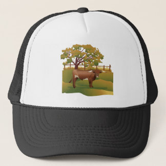Longhorn Cattle on the Ranch Trucker Hat