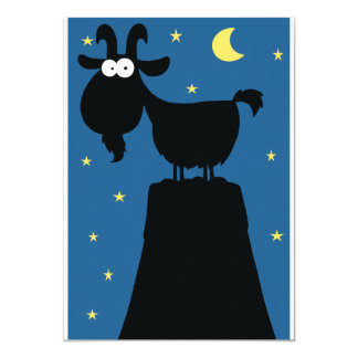 Longhorn Goat Invitations