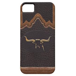 Longhorn Photo Sim Leather iPhone5 Case