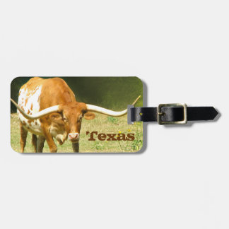Longhorn Texas Luggage Tag
