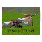 Longhorns in a Field Birthday Card