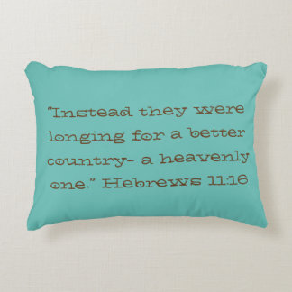 """Longing for"" Scripture Accent Pillow"