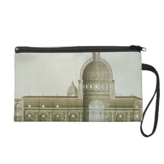 Longitudinal Cross-Section of St. Peter's in Rome, Wristlet Clutch
