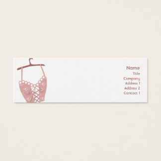 Longlive Bra - Skinny Mini Business Card