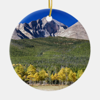 Longs Peak a Colorado Playground Ceramic Ornament