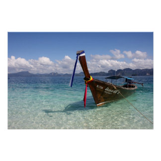 Longtail Boat in Thailand Poster