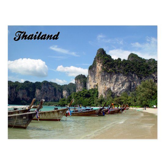 Longtail Boats Krabi Thailand Postcard