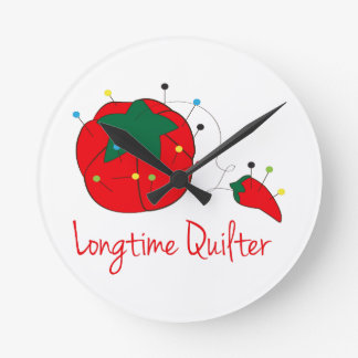 Longtime Quilter Round Clock