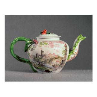 Longton Hall teapot, c.1755 Postcard